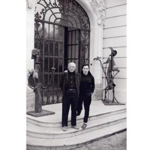 SCATTI DI DUNCAN A PICASSO - David Douglas Duncan, Picasso e la moglie Jacqueline, Francia, seconda metà degli anni ?50